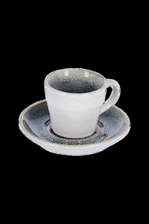 Kaffekopp med fat Sachi, 4-pack