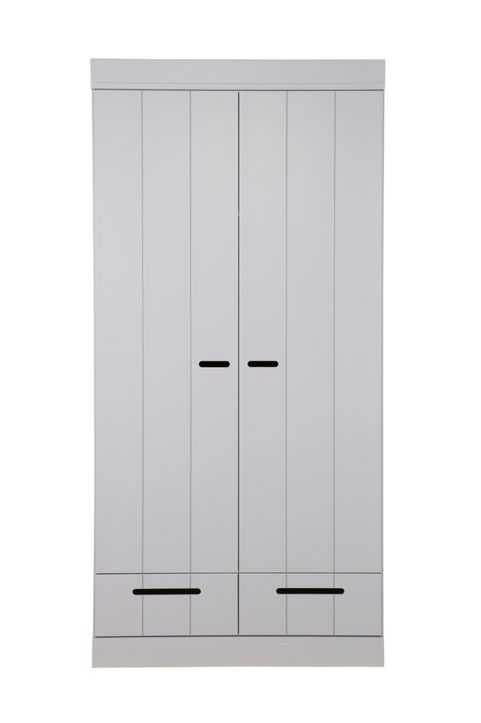 Garderob Connect m struktur, H195xB94xD53