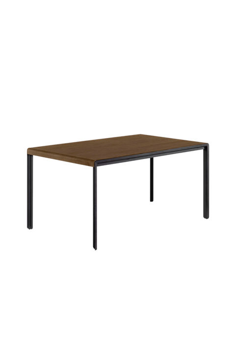 Bord med valnöts-finish Nadyria 120 (160) x 80 cm