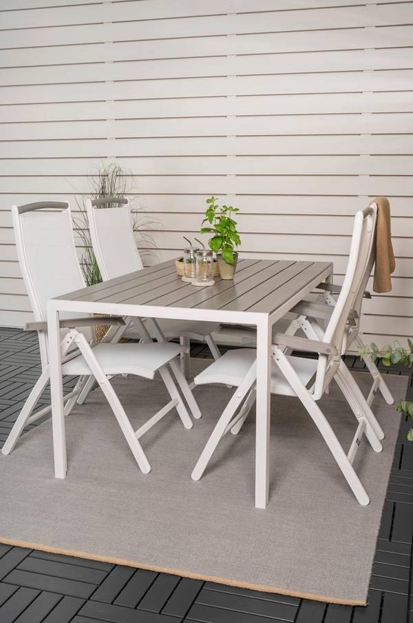 Bilde av Bliss spisebord og 4 Athena spisestoler - 30151