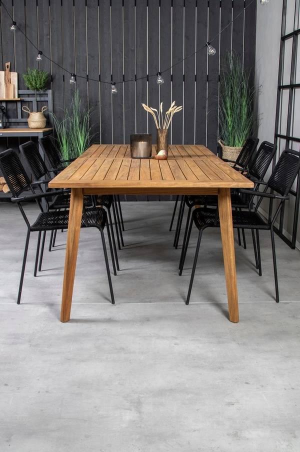 Bilde av Celine spisebord og 6 Levis spisestoler - 30151
