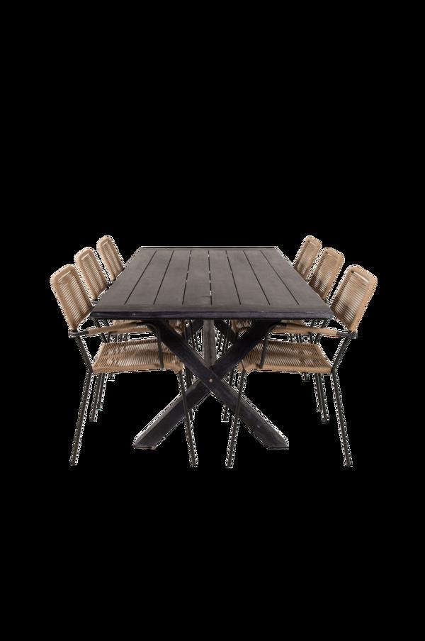 Bilde av Ariel spisebord og 6 Levis spisestoler - 30151