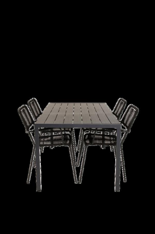 Bilde av Bliss spisebord og 4 Levis spisestoler - 30151