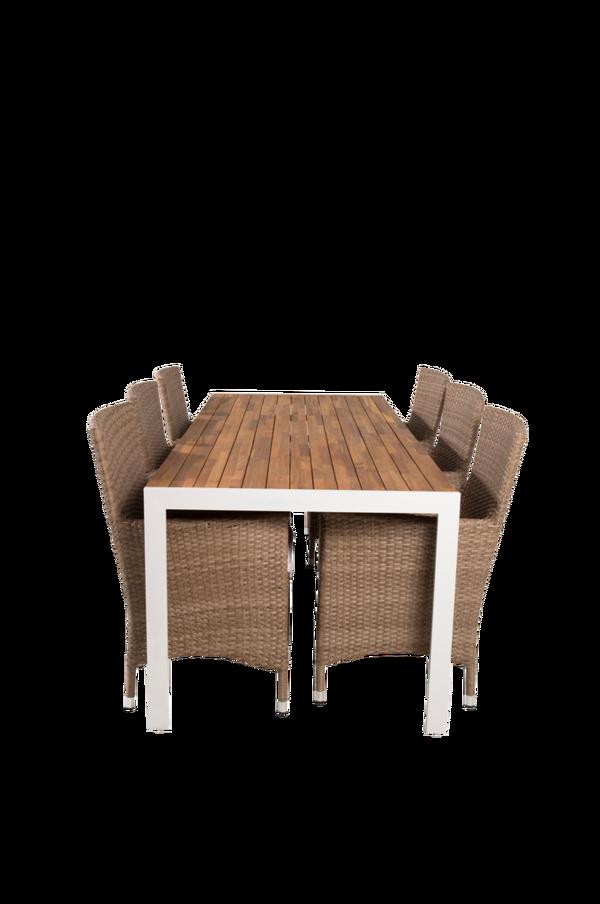 Bilde av Belinda spisebord og 6 Meja spisestoler - 30151
