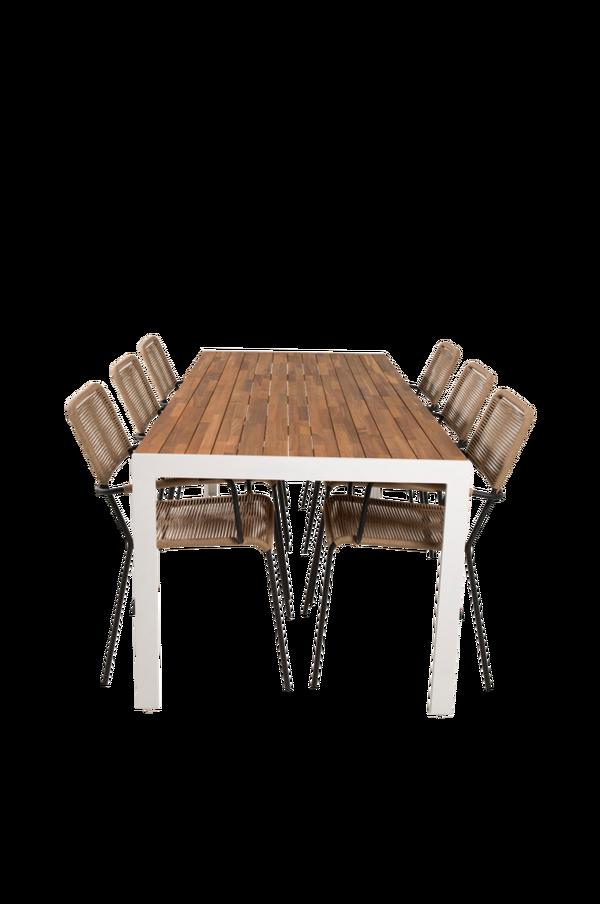 Bilde av Belinda spisebord og 6 Levis spisestoler - 30151