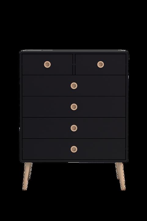 Byrå Softline, 4 stora + 2 små lådor