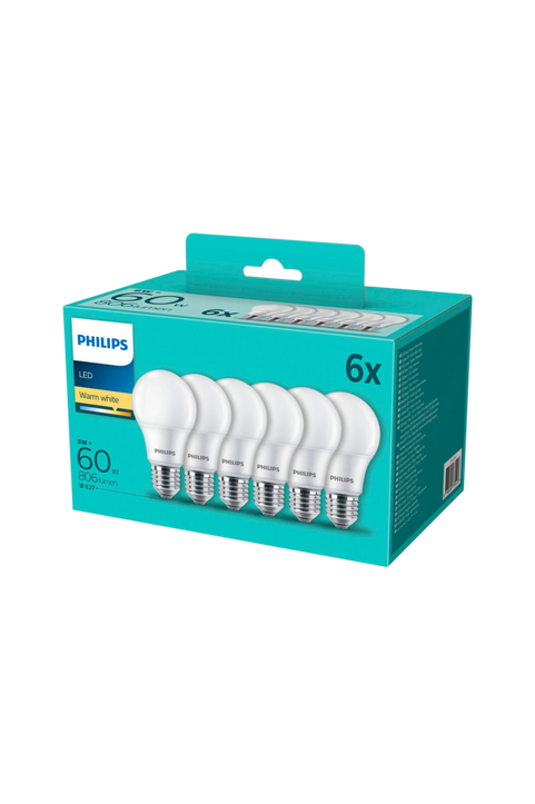6-pack LED E27 Normal Frost 60