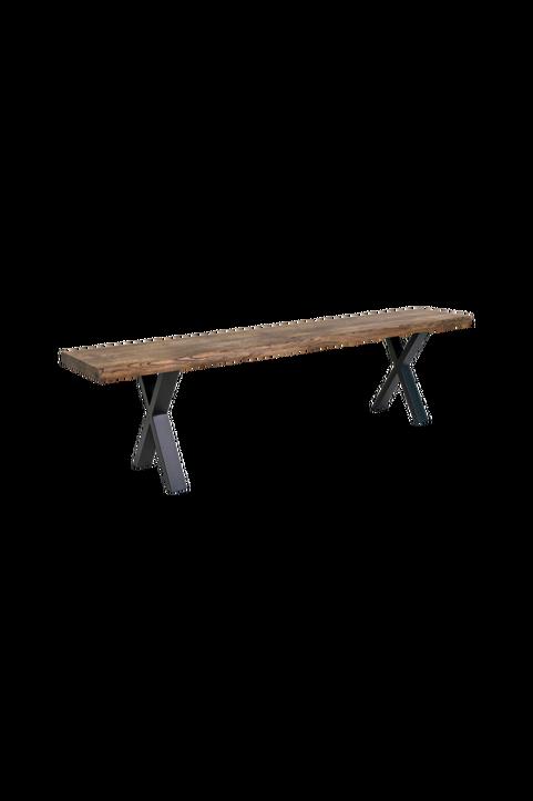 Bänk Mesa, rökt oljad ek, 180x34 cm