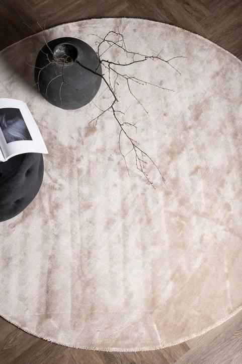 Viskosmatta Iris, rund