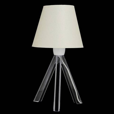 Bordslampa Ayakli, Vit och Transparent