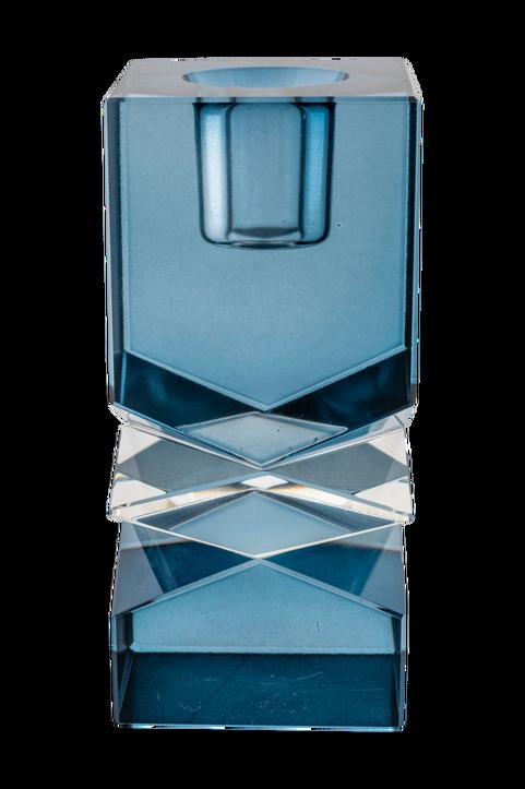 Ljushållare Mira. Ljushållare i blått glas