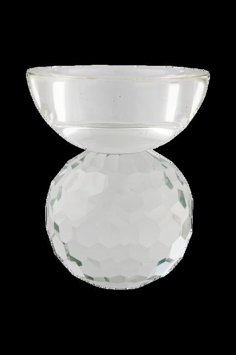 Ljushållare Burano. Ljushållare i transparent glas