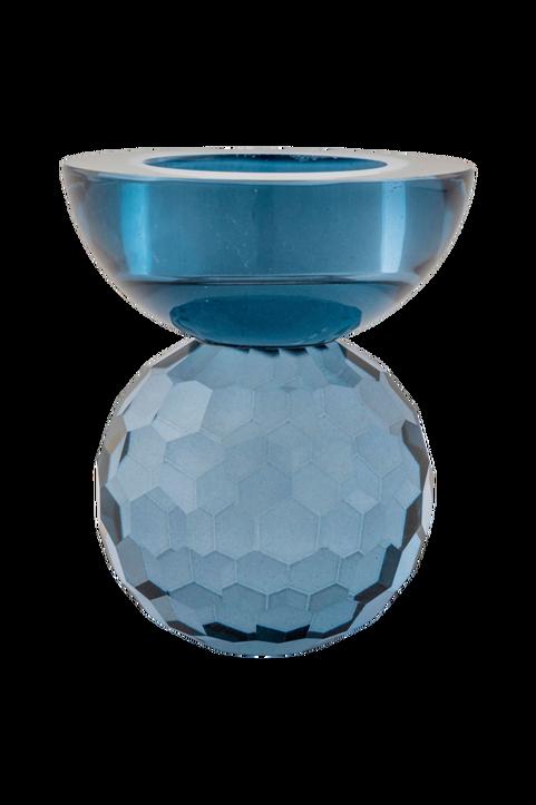 Ljushållare Burano. Ljushållare i blått glas