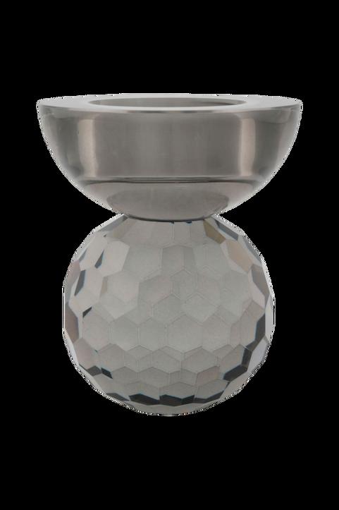 Ljushållare Burano. Ljushållare i rökigt glas