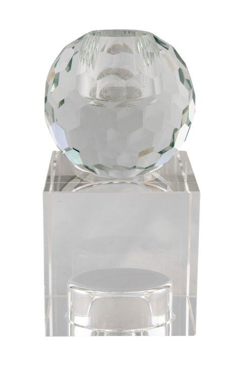 Ljushållare Torcello. Ljushållare i transparent glas