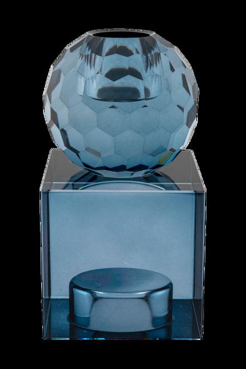 Ljushållare Torcello. Ljushållare i blått glas