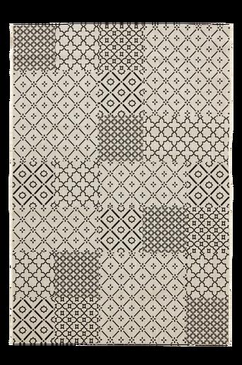 LORCIA-bukleematto 200x300 cm Luonnonvalkoinen/tummanharmaa