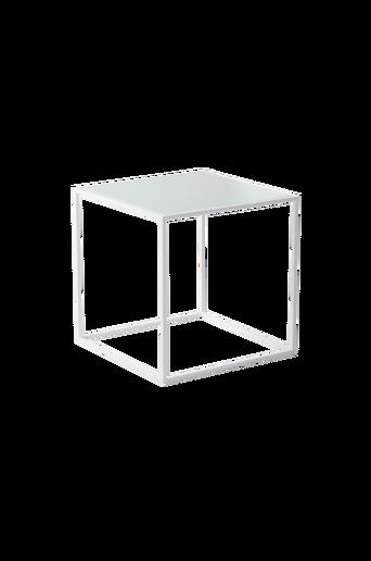 NYLAND-sohvapöytä 40x40 - lasia Valkoinen