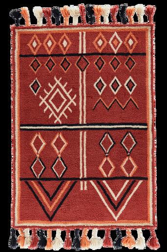 MIRA-villamatto 160x230 cm Punainen