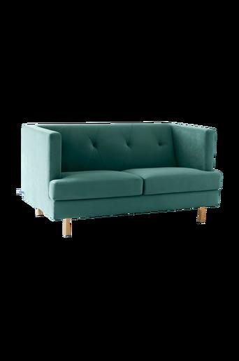 2:n istuttava OAKDALE-sohva Vihreä