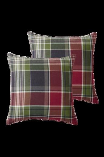 BURLINGTON-tyynynpäälliset, 2/pakk. 50x50 cm Vihreä/harmaa