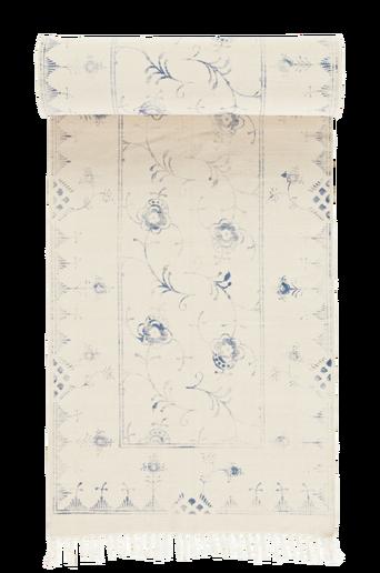 SORRENTO-puuvillamatto 70x250 cm Kermanvalkoinen/sininen