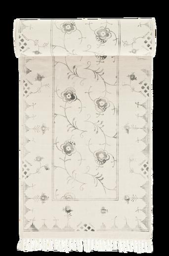 SORRENTO-puuvillamatto 70x250 cm Kermanvalkoinen/harmaa