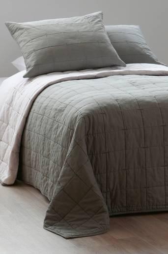 HEDDA-päiväpeite kapeaan sänkyyn Harmaa/valkoinen