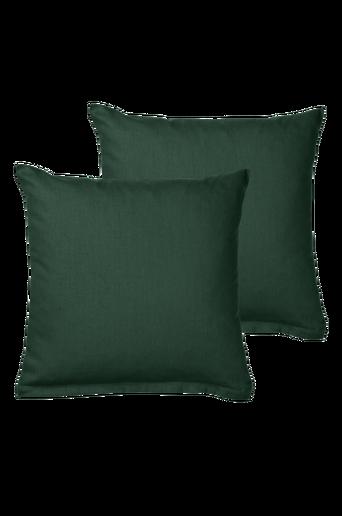 COLOUR-tyynynpäälliset, 2/pakk. 40x40 cm Tummanvihreä