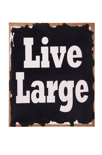 LIVE LARGE -taulu Ruskea