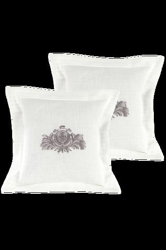 SOFIERO-tyynynpäälliset, 2/pakk. 40x40 cm Harmaa/valkoinen