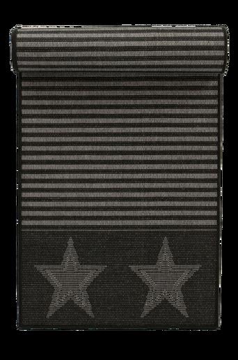 AMERIKA-bukleematto ulkokäyttöön 80x250 cm Harmaa/musta