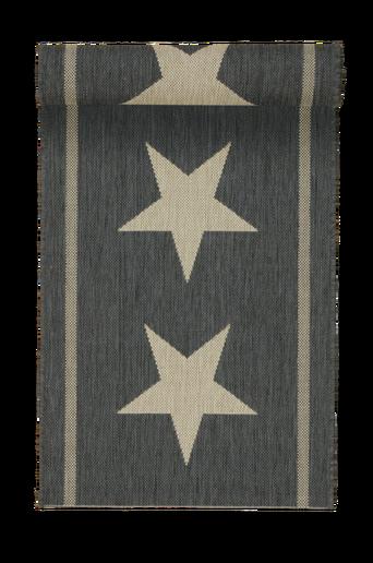 THREE STARS -bukleematto, 60x110 cm Musta/luonnonbeige