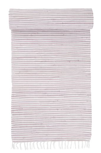 VIOLA-räsymatto 70x100 cm Kanervanroosa/valkoinen