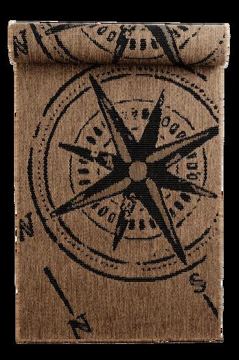 KOMPASS-bukleematto, 80x250 cm Ruskea/musta