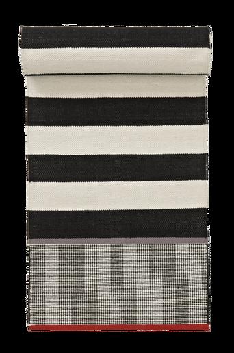 VITTORIA-puuvillamatto 70x100 cm Valkoinen/musta