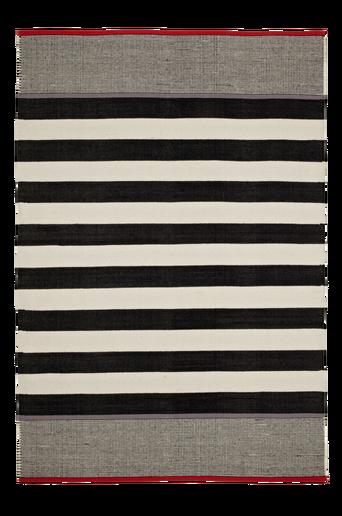VITTORIA-puuvillamatto 130x190 cm Valkoinen/musta