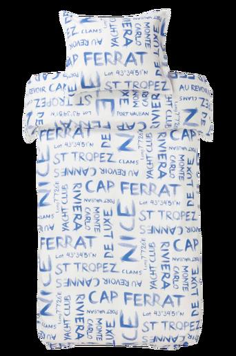 CAP FERRAT -pussilakanasetti, 2 osaa Sininen
