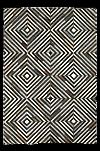 TUFELLO-nahkamatto 160x230 cm Ruskea/musta