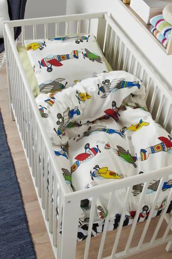 Ekologinen vauvan FLYGPLAN-pussilakanasetti, 2 osaa Monivärinen