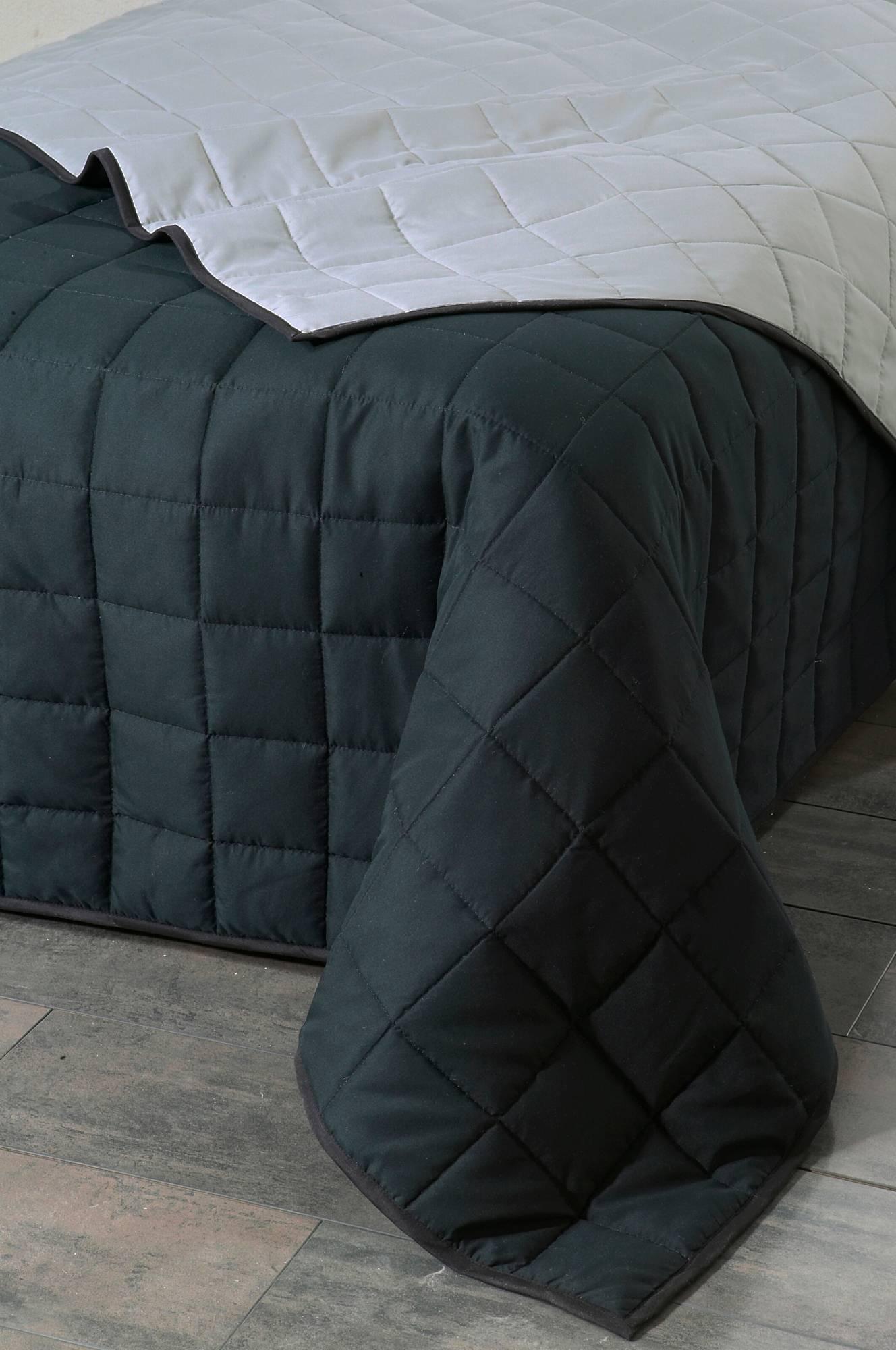 Matilda MATILDA sengeteppe enkeltseng 180x260 cm - Svart - Senget?y ...