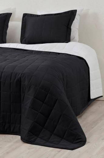 MATILDA-päiväpeite kapeaan sänkyyn 180x260 cm Musta/valkoinen