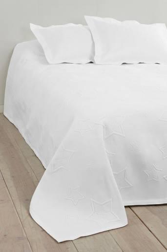 STAR-päiväpeite kapeaan sänkyyn 180x260 cm Luonnonvalkoinen