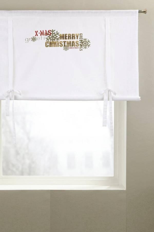 Bilde av CHRISTMAS GREETINGS roll up-gardin - 30151