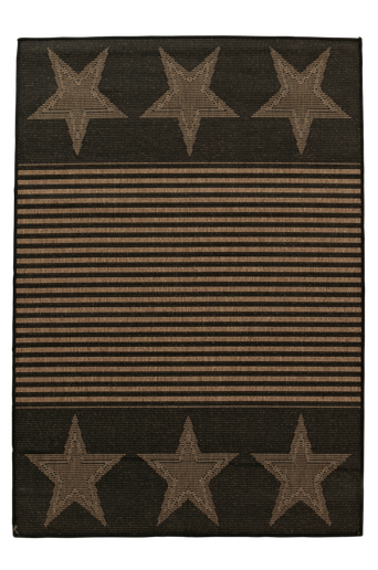 AMERIKA-bukleematto ulkokäyttöön 133x190 cm Ruskea/musta