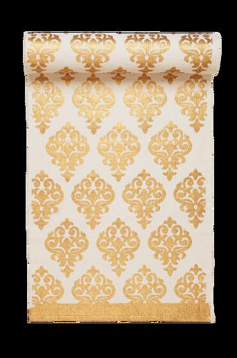 TARANTO-puuvillamatto 70x250 cm Valkoinen/kulta