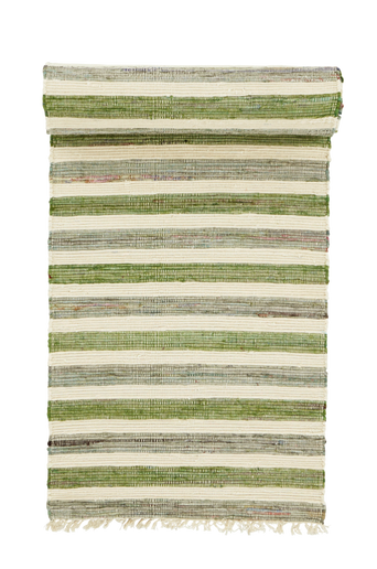 TIRIA-puuvillamatto 70x150 cm Vihreä