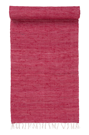 CINA-räsymatto, yksivärinen 70x100 cm Punainen
