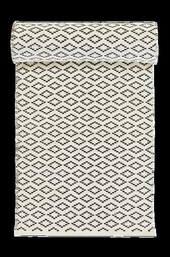 CORTINA-puuvillamatto 70x150 cm Luonnonvalkoinen/harmaa