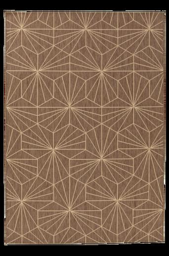 LUCA-bukleematto 160x230 cm Ruskea/hiekkabeige